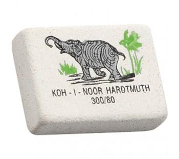 Ластик. Koh-I-Noor. Elephant 300/80. Прямоугольный. Натуральный каучук. 26*18,5*8мм