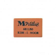 Ластик. Koh-I-Noor. Mondeluz 80. Прямоугольный. Натуральный каучук. 26*18,5*8мм