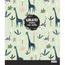 Тетрадь для записей. Клетка. 48 листов. Жирафы