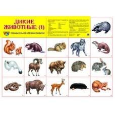 Дикие животные -1. Демонстрационный плакат. Формат А2