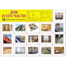 Дом и его части. Демонстрационный плакат. Формат А2