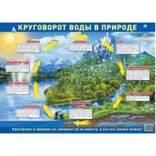 Круговорот воды в природе. Демонстрационный плакат. Формат А2
