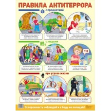 Правила антитеррора. Демонстрационный плакат. Формат А2