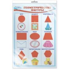 Геометрические фигуры. Плакат А3 в индивидуальной упаковке с европодвесом