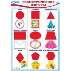 Геометрические фигуры. Плакат А3
