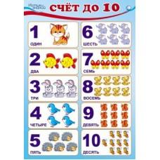 Счет до 10. Плакат А3
