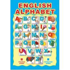 Английский алфавит. Мини-плакат А4. Ш-10287