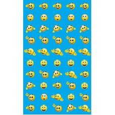 Смайлики с бровками. Набор для поощрения на самоклеящейся бумаге. НМ-7747