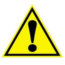 Предупреждающий знак. Внимание! Наклейки. ШН-11079. 96х95 мм