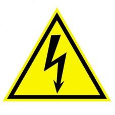 Предупреждающий знак. Электричество! Наклейки. ШН-11080. 96х95 мм