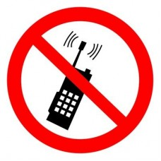 Запрещено пользоваться мобильным телефоном. Наклейки. ШН-8855