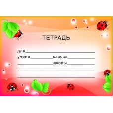 Наклейки на тетради. ШН-8119