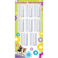 Котенок. Мини-таблица умножения. С расписанием на обороте