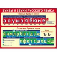 Буквы и звуки русского языка. Мини-плакат А4. Ш-12844