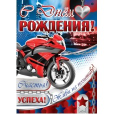 С Днем рождения! Плакат А2. ПЛ-11075