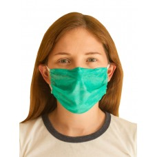 Маска лицевая защитная многоразовая 3-х слойная зелёная. 3 штуки